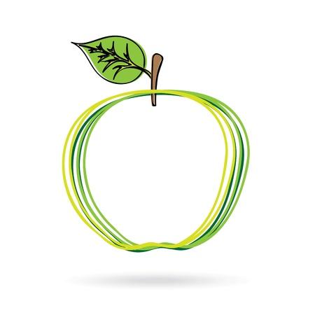 apple design over white background vector illustration Stock Vector - 21371977