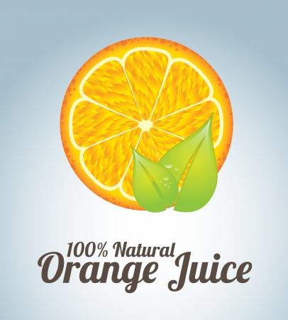 orange juice  over blue background vector illustration Illustration