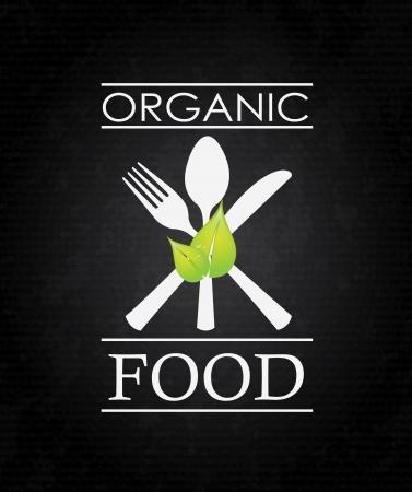 biologisch voedsel over zwarte achtergrond vector illustratie