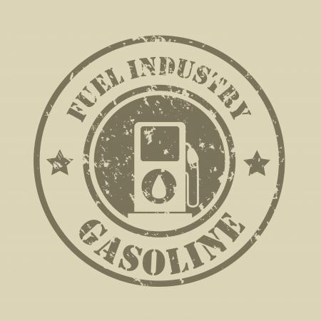 fuel industry seal over beige background vector illustration  Vector