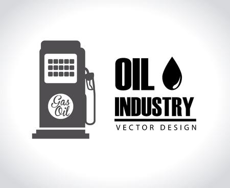 industria del petróleo sobre fondo gris ilustración vectorial