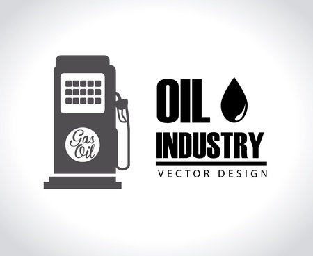 oil industry over gray background vector illustration  Vector