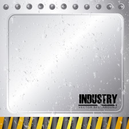 industry design over gray background vector illustration Stock Vector - 21372052