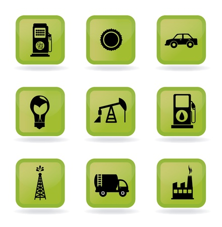energy icons over white background vector illustration Stock Vector - 21372053