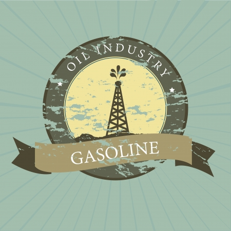 oil industry over blue background vector illustration  Vector