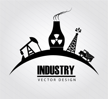 industry design over gray background vector illustration  Stock Vector - 21372063