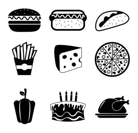 food icons over white background vector illustration  Vector