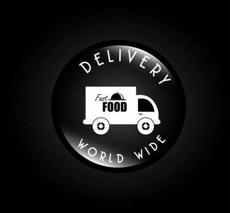 delivery food over balck background vector illustration Stock Vector - 21372075