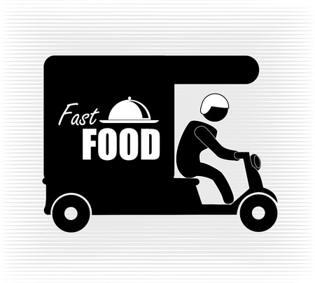 delivery food over white background vector illustration  Vector