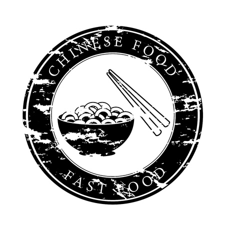 chinese food over white background vector illustration  Illustration