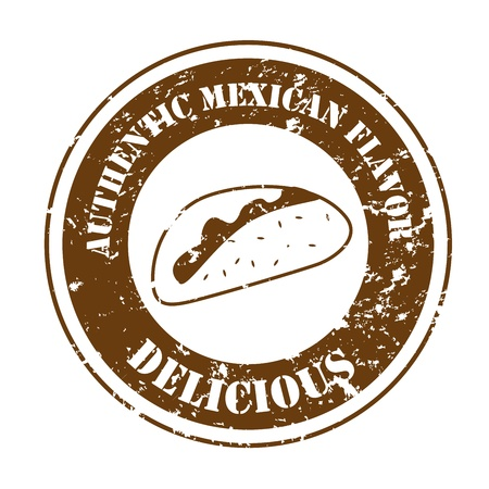 mexican food over white background vector illustration  Vector