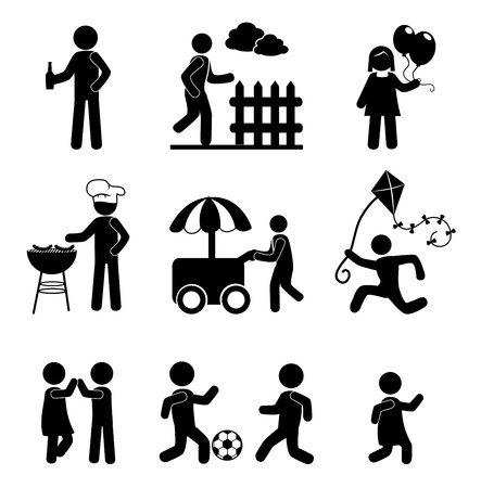 human icons over white background vector illustration  Vector