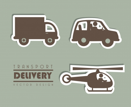 transport delivery over gray background vector illustration  Vector