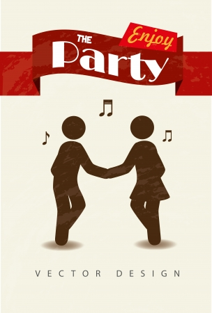 enjoy the party over white background vector illustration  Vector