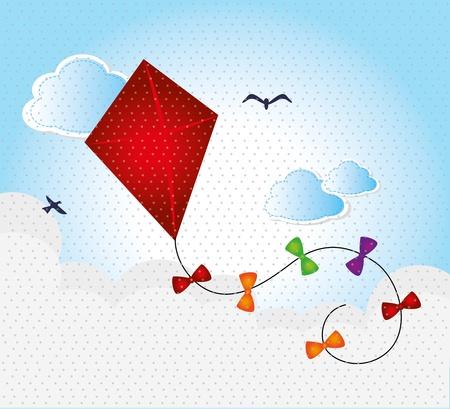kite design over sky background vector illustration Vector
