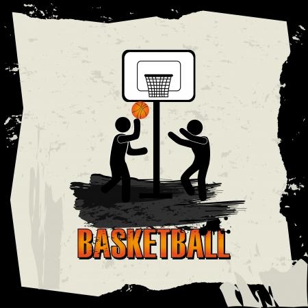 basketball design over gray background vector illustration  Vector