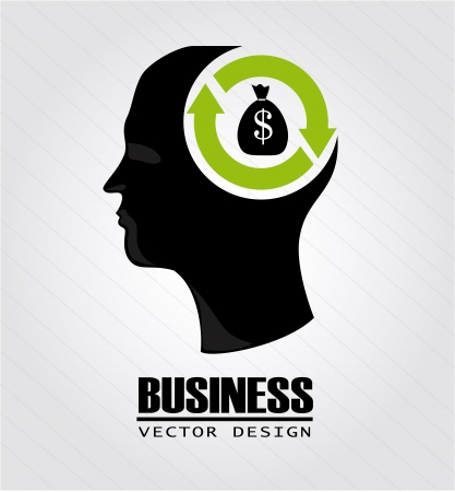 business mind over gray background vector illustration  Vector