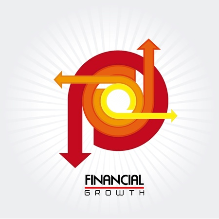 identifiers: financial growth over white background vector illustration  Illustration