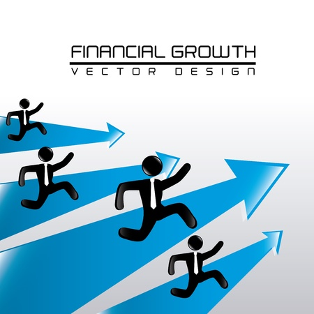 financial growth over gray background vector illustration  Illustration