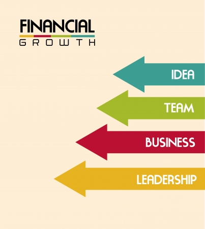 identifiers: financial growth over pink background vector illustration