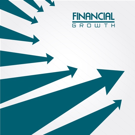 financial growth over gray background vector illustration  Vector