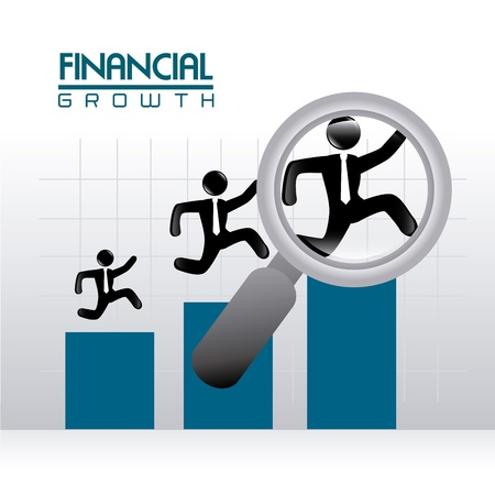 identifiers: financial growth over gray background vector illustration  Illustration