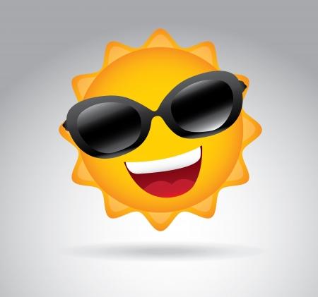 smyle: summer design over gray background vector illustration