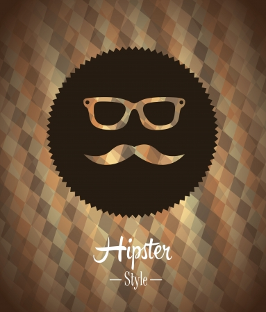 hipster design over bronze background vector  illustration   向量圖像