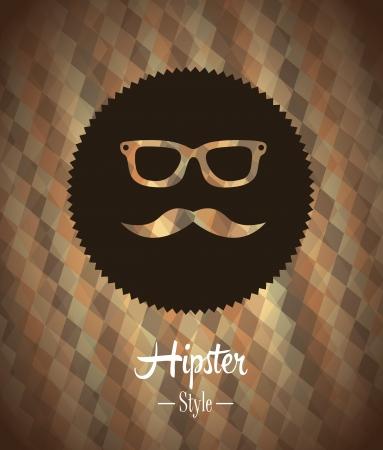 hipster design over bronze background vector  illustration   Illustration