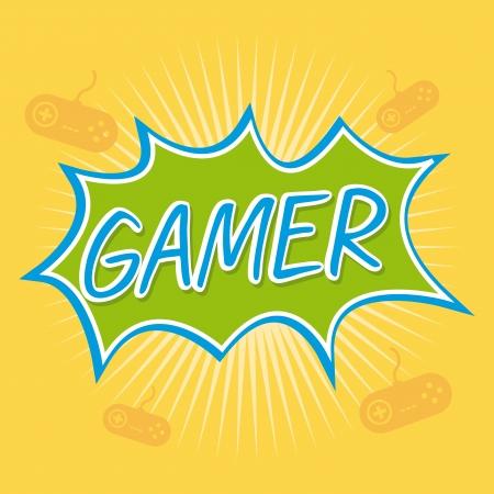 gamer design over yellow background vector illustration  Vector