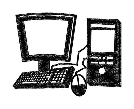 pc design  over white background vector illustration  Vector