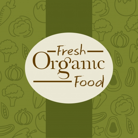 fresh organic food over green background vector illustration  Vector