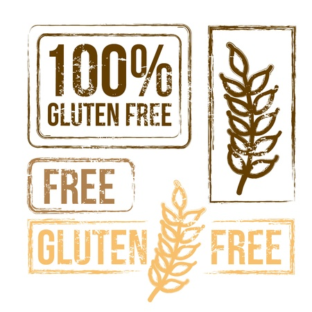 free background: 100 percent free gluten over white background vector illustration  Illustration