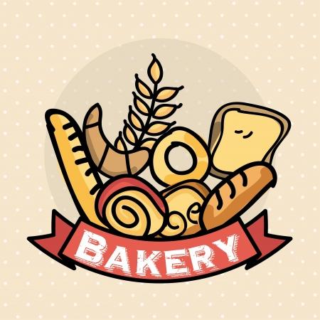 bakery design over dotted background vector illustration  Vector
