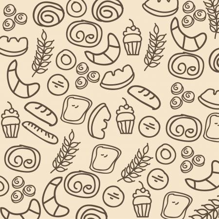 bakery design over pink background vector illustration  Vector