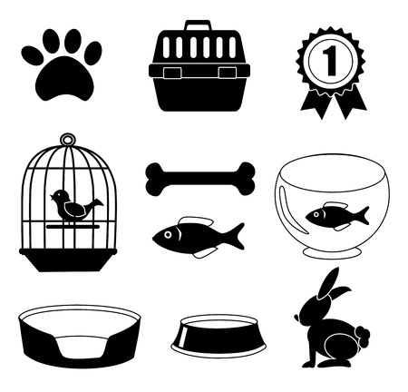 implements: pets icons over white background vector illustration