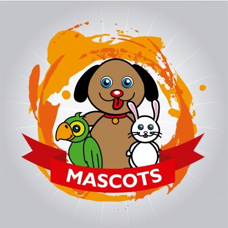 mascots design over gray background vector illustration  Vector