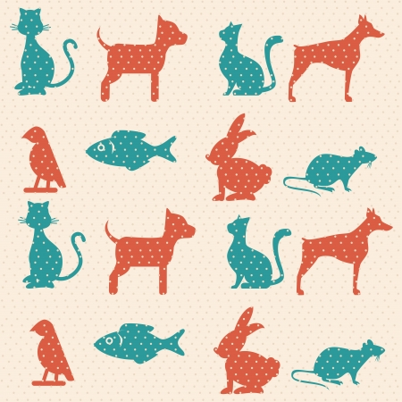 pets skin over dotted background vector illustration  Vector