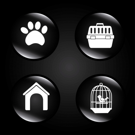 mascot bubbles over black background vector illustration  Vector