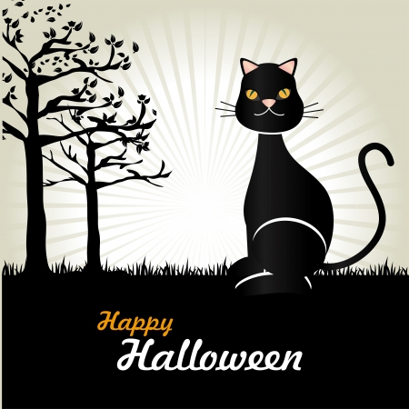 Happy Halloween sur fond gris illustration vectorielle