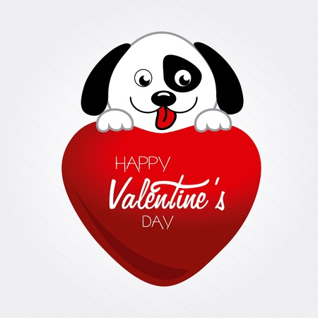 valentines day over white background vector illustration   Vector