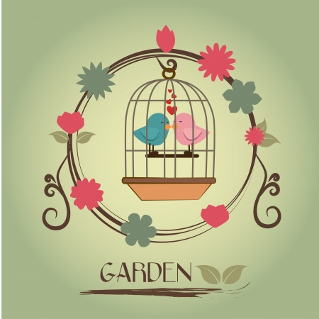 garden design over gray background vector illustration   Stock Vector - 21506048