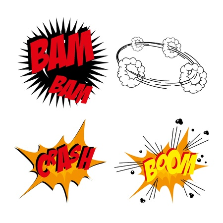 comics icons over white bacground vector illustration Vector