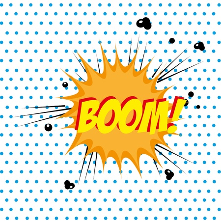 boom comic over dotted background vector illustration  Vector
