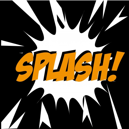 splash comic over black background vector illustration  Stock Vector - 21533088