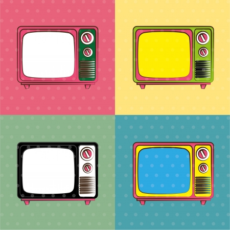 television design over colorful background vector illustration Vector