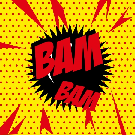 bam bam comic over yellow background vector illustration  Stock Vector - 21533094