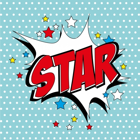 star comic over blue background vector illustration  Stock Vector - 21533097