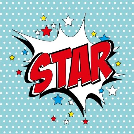 star comic over blue background vector illustration Stock Vector - 21533097