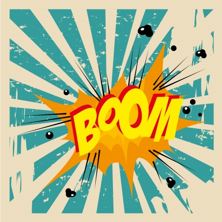 boom comic over grunge background vector illustration  Vector